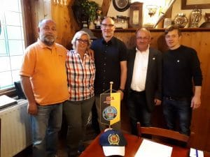 v.l.n.r.: Hans-Jürgen Jacob, Jutta Rennert, Jan Reinhardt, Frank Reichelt und Steven Teichert